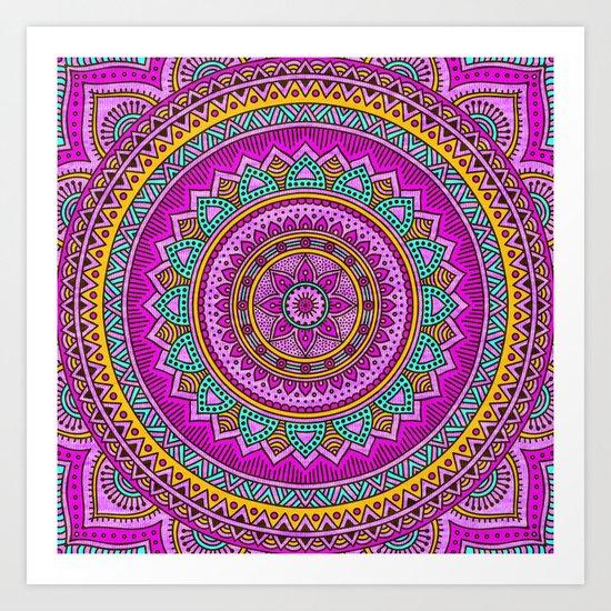 Hippie mandala 94 Art Print