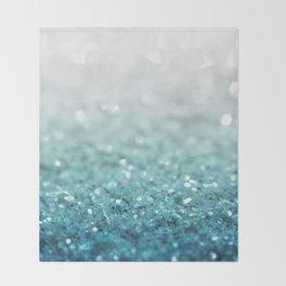 MERMAID GLITTER - MERMAIDIANS AQUA Throw Blanket