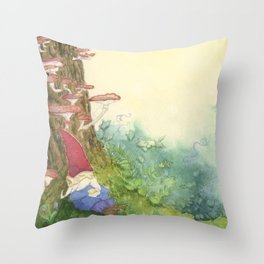The Sleeping Gnome Throw Pillow