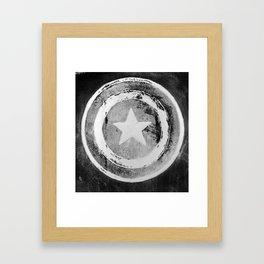 Capt America shield Framed Art Print