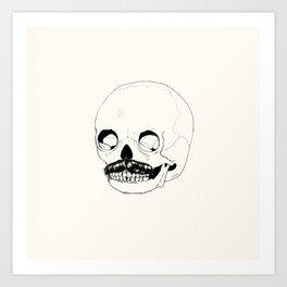 Moustatche Skull Art Print