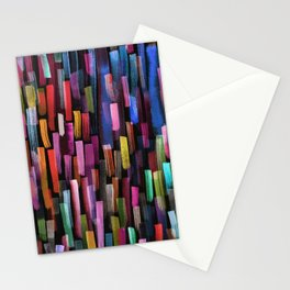 colorful brushstrokes pattern Stationery Cards