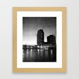 Night Downtown Framed Art Print
