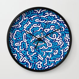 Blue White ormanent Wall Clock