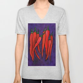 Chili Peppers Unisex V-Neck