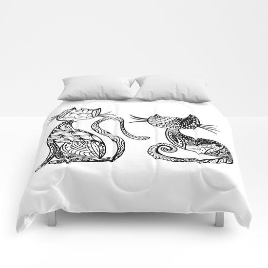 Mandala Cats Comforters
