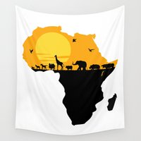 south africa Wall Tapestries featuring Africa by Emir Simsek