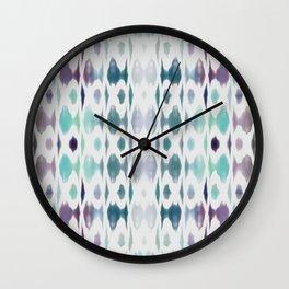 Light As Air Teal Purple Pattern Wall Clock