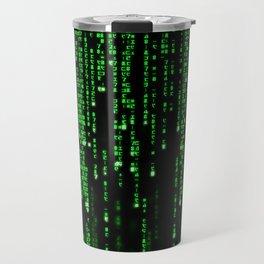 Matrix Binary Code Travel Mug