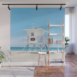 Lifeguard tower Carlsbad 35 Wall Mural