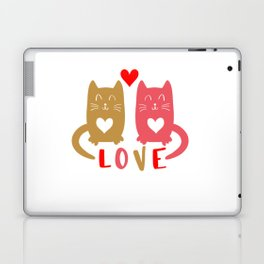 Cats in Love shirt Laptop & iPad Skin