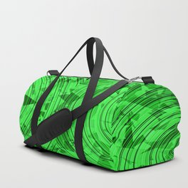 psychedelic geometric circle pattern abstract background in green Duffle Bag