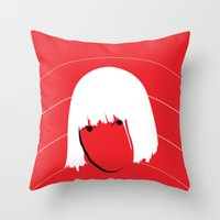 sia Throw Pillows featuring Girls Like Sia  by Smudgey Paw