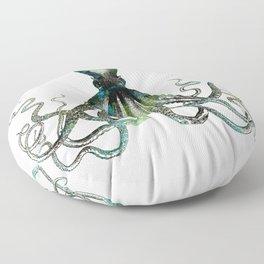 Octopus marine life watercolor art Floor Pillow