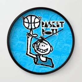 Basket Boy 7 Wall Clock