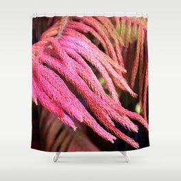 Alien pink wird plant forest Shower Curtain