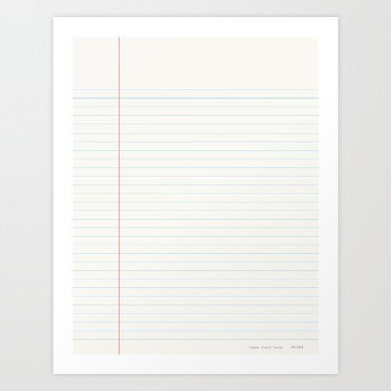 ideas start here 001 Art Print