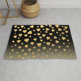 Showered In Golden Jewels of Love Rug