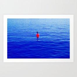 Bouy Blue Bird Art Print