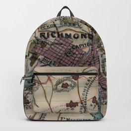 Vintage Richmond Virginia Civil War Map (1865) Backpack
