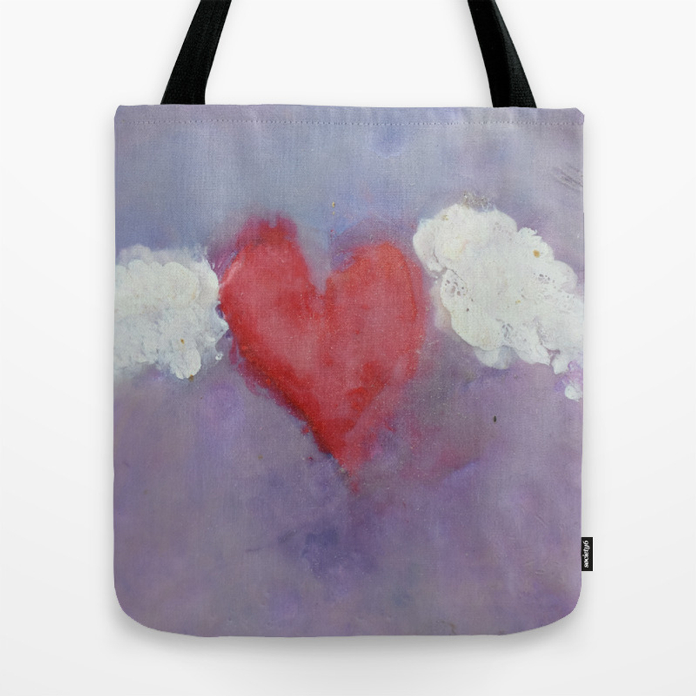 Flying Heart Encaustic Tote Purse by Centralartery (TBG9602685) photo