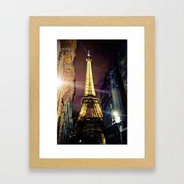 Paris La Nuit Framed Art Print
