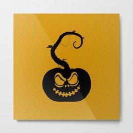 Evil Pumpkin Metal Print