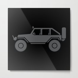 Off Road 4x4 Silhouette Metal Print