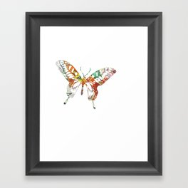 Colorful butterfly fabric art Framed Art Print