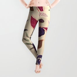 Simple and stylized flowers 19 Leggings