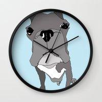 boston Wall Clocks featuring Boston by caseysplace