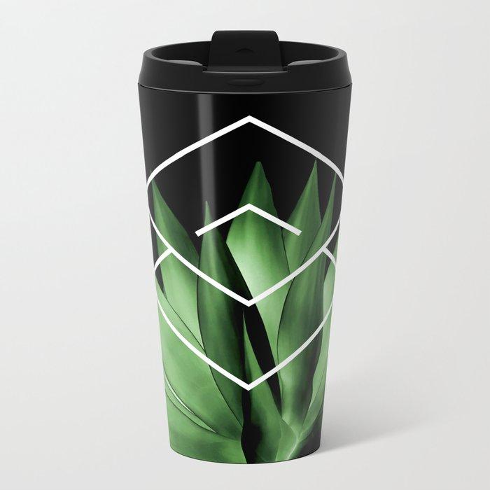 Agave geometrics III Metal Travel Mug