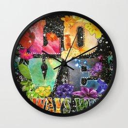 Love Always Wins Wall Clock