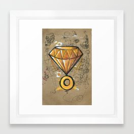 Chaos Emerald Framed Art Print