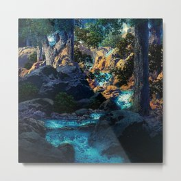 Doctrine of Divine Light by Maxfield Parrish Metal Print