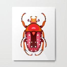 Orange and Red Beetle Metal Print