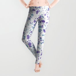 Watercolor Ultra Violet Splattering Dog Lovers Leggings