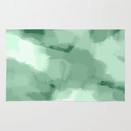 Saige - Green abstract art Rug