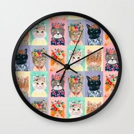 Cat land Wall Clock