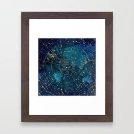 Star Map :: City Lights Framed Art Print
