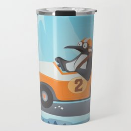 Penguin Racer Travel Mug