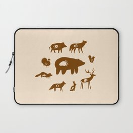 Nature Trail in Coffee and Cream Laptop Sleeve