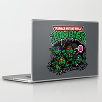 teenage mutant ninja turtles Laptop & iPad Skins featuring Teenage Mutant Ninja Zombies by harebrained