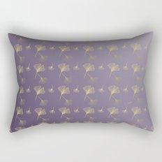 Ginkgo Purple Gold Rectangular Pillow