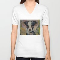 shakespeare V-neck T-shirts featuring Shakespeare by Michael Creese