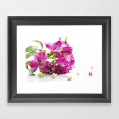 Flower magic in pink Framed Art Print