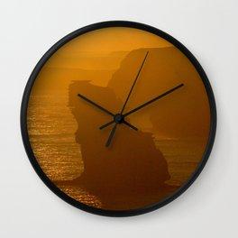 Sun setting over the Limestone Coast Wall Clock