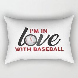 I'm in LOVE with Baseball Rectangular Pillow