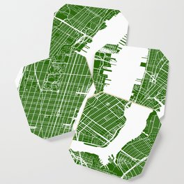 Green City Street Map of New York, USA Coaster