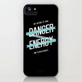 manifesto no. 1 (dark) iPhone Case
